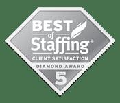 Best of staffing award at Hamilton Ryker, Nashville's Staffing Agency